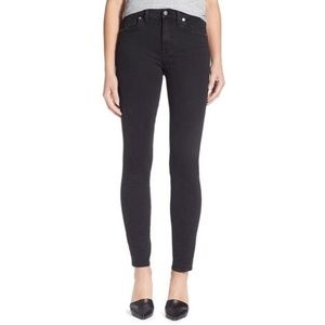 Madewell High Riser Black Skinny Jeans Size 28